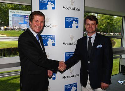 George O'Grady, Geschäftsführer der European Tour, und Hugues Lechanoine, Generaldirektor der Baron Philippe de Rothschild SA