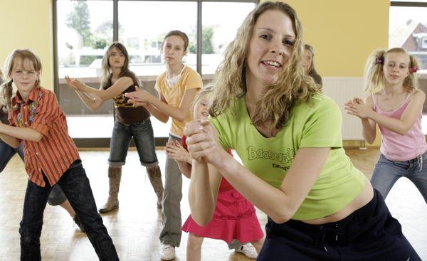 Tanzlehrerin im Einsatz