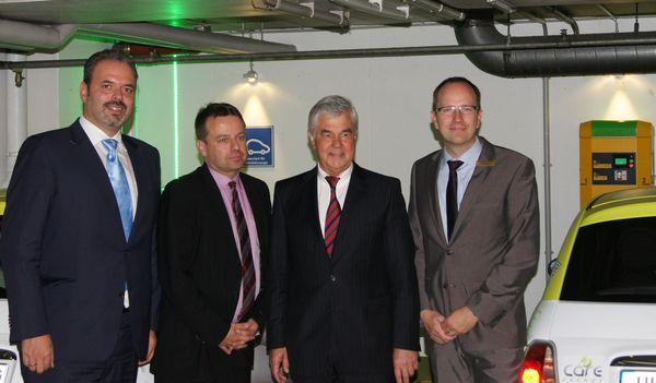 v.l.n.r.: Martin Kristek, Peter Lindlahr, Frank Horch und Carsten Gogol