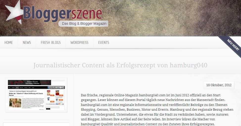 Bloggerszene: Interview mit hamburg040.com