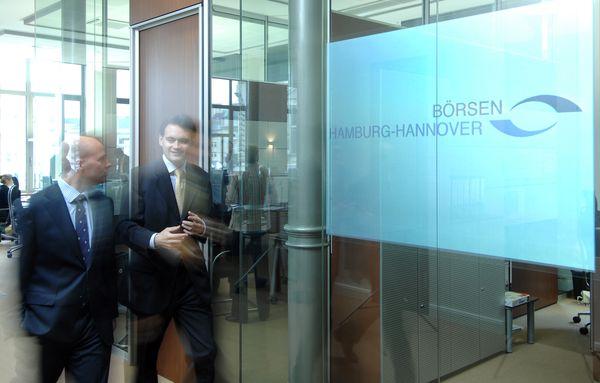 Makler an der Börse Hamburg