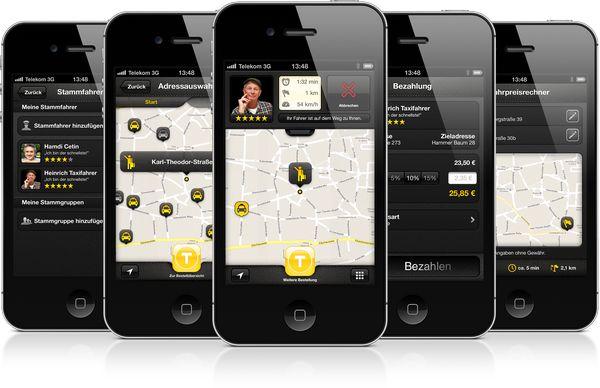 myTaxi App auf dem iPhone