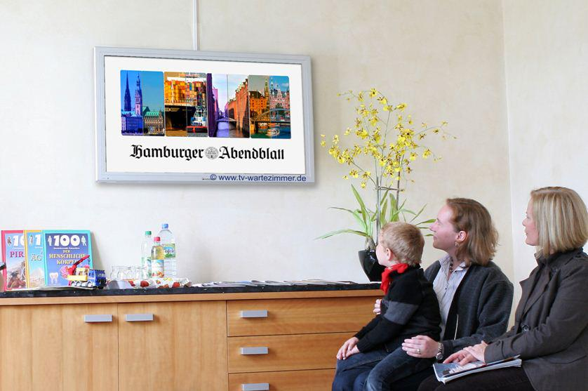 Beim Arztbesuch: TV-Nachrichten im Wartezimmer