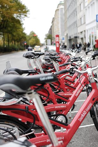 Hamburgs Netz für Fahrradrouten