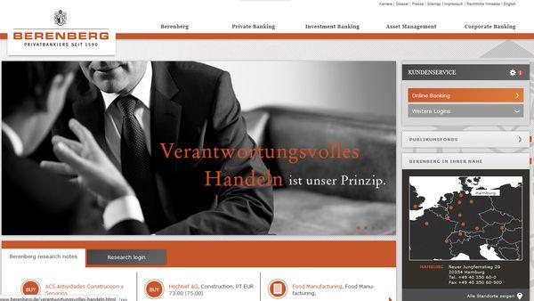 """Hamburger Berenberg Bank auch 2015 wieder """"Bester Vermögensverwalter"""""""
