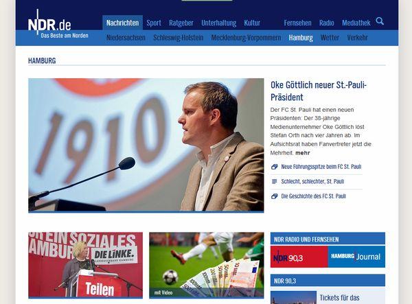 NDR Website Screenshot