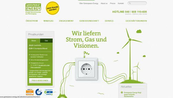 Greenpeace informiert über Ökostrom