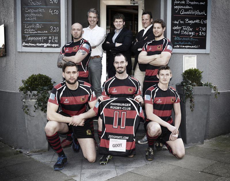 Hamburger Rugby-Club: Spieler mit Steffen Mohr, David Soper und Dietmar Cyrus