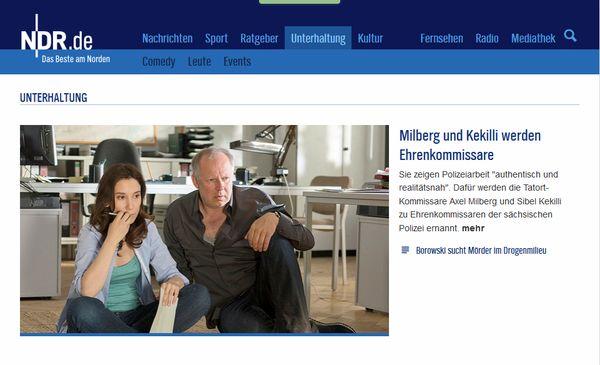 """Kieler NDR """"Tatort""""-Ermittler werden Ehrenkommissare der sächsischen Polizei"""