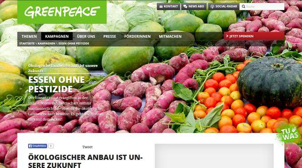 Greenpeace macht Druck - zum Wohl vom Umwelt und Bevölkerung
