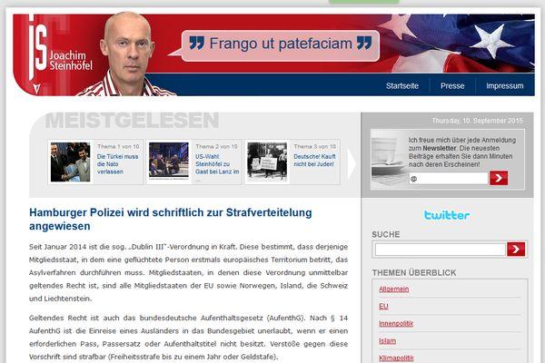 Screenshot des Blogs von Joachim N. Steinhöfel