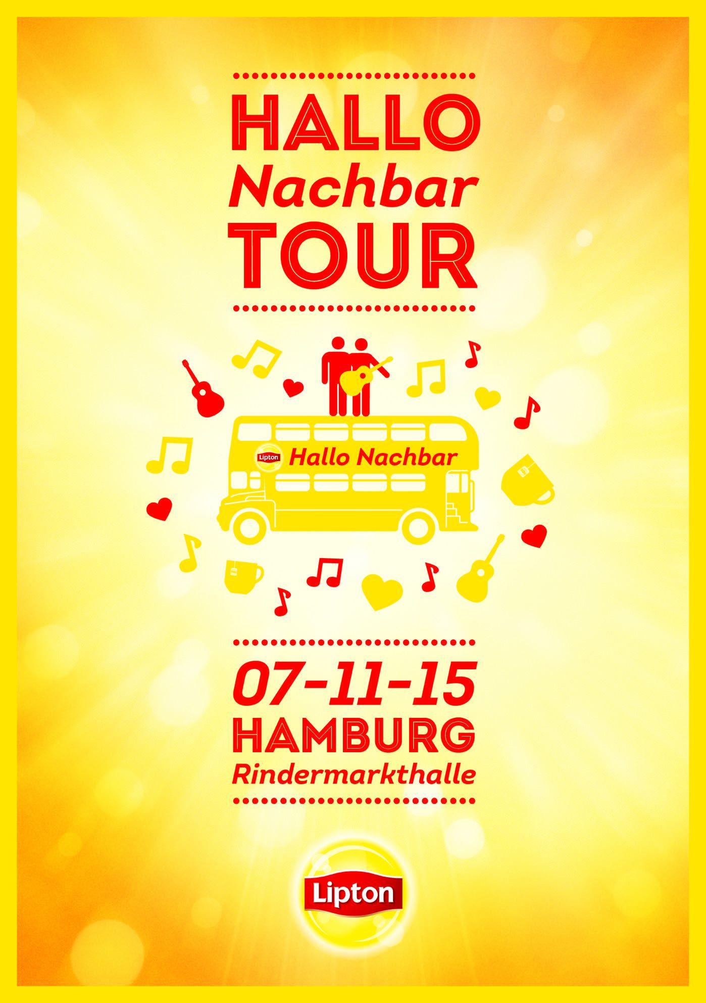 """Die Lipton """"HalloNachbar""""-Tour startet in Kürze"""