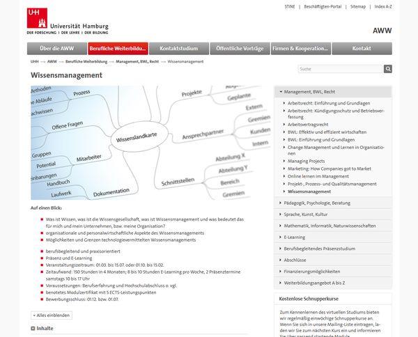 Berufsbegleitende Weiterbildung der Universität Hamburg vermittelt Theorie, Praxis und Strategien für erfolgreiches Knowledge Management