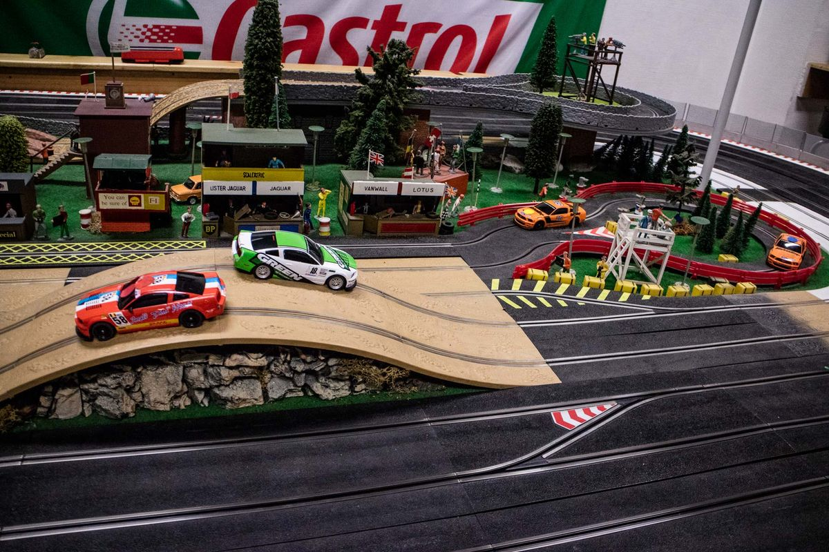 Slot-Car Racing-Strecken beim Renncenter Hamburg