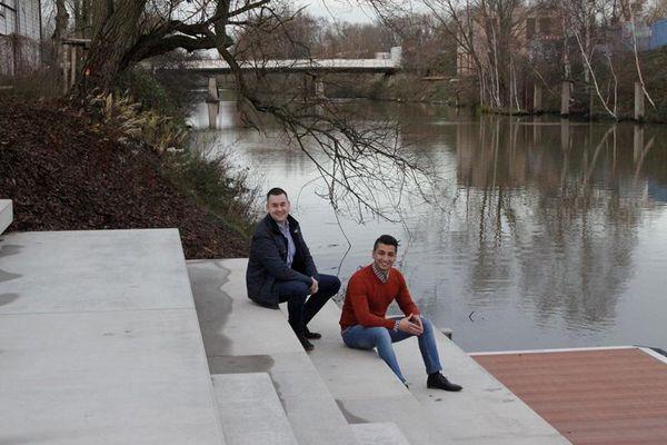 Jungunternehmer Nima Fard und Jan Matthiesen