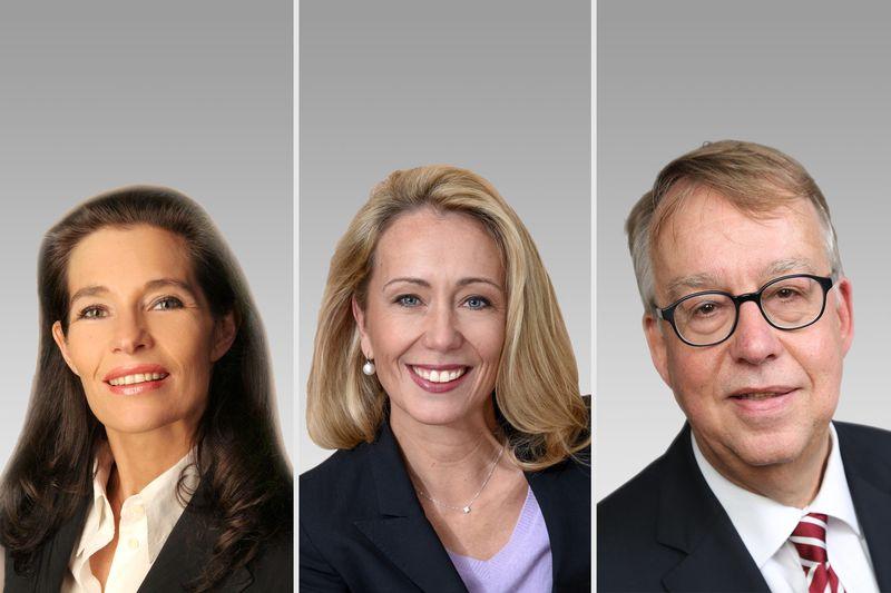 Sabine von Anhalt, Annika Farin und Dr. Ulrich Beckendorff.