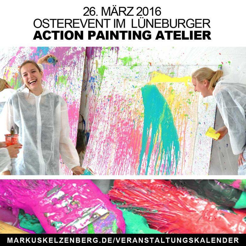 Im Lüneburger Action Painting Atelier entdeckt jeder seine eigene Kreativität.