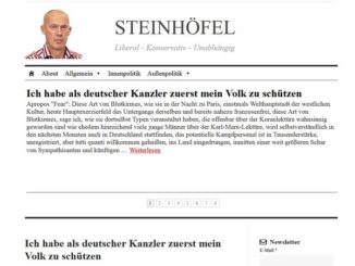 Screenshot der Website des Blogs Joachim Steinhöfel