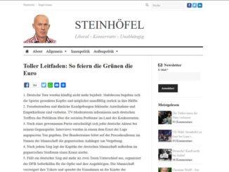 Screenshot der Website des Blogs Joachim Steinhöfel