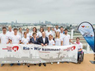Olaf Scholz verabschiedet Team Hamburg