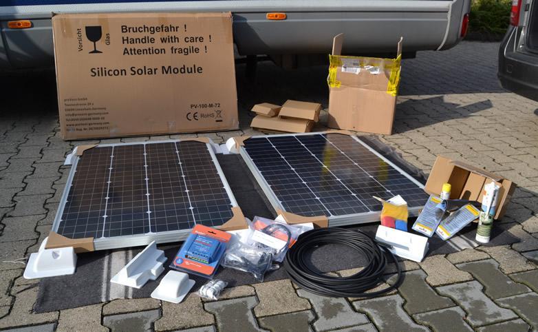 solaranlage f r boot und wohnmobil. Black Bedroom Furniture Sets. Home Design Ideas