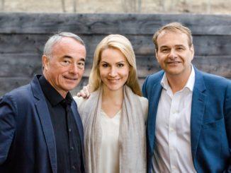 Mattias Pfeffer, Judith Rakers und Marcus Wolter