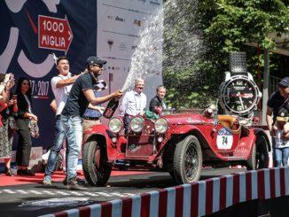 Alfa Romeo bei der Mille Miglia siegreich