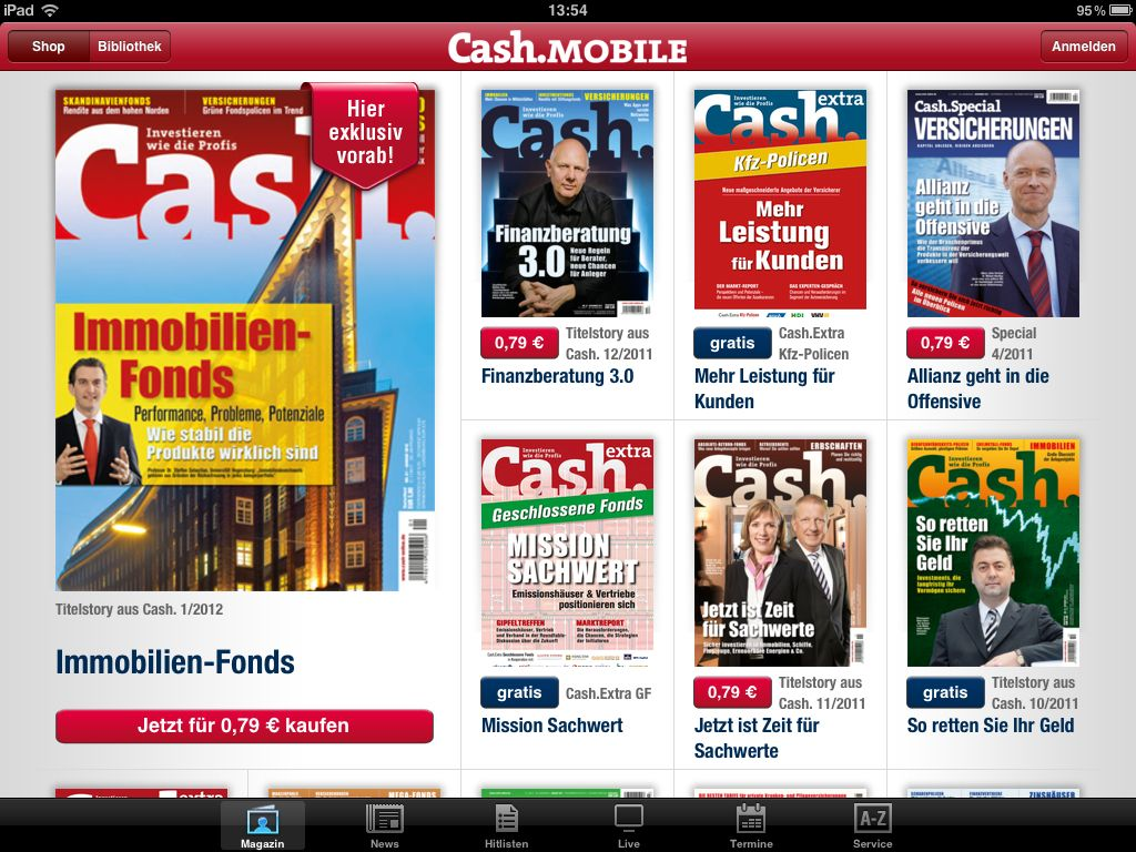 Cash.Mobile iPad App