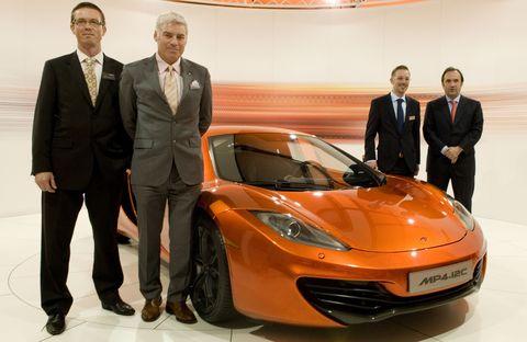 Christian Marti, Frank Stephenson, Kai Rodovsky (McLaren Hamburg), Antony Sheriff (v.l.n.r.)