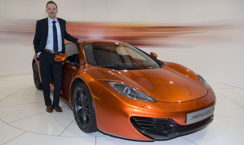 Kai Rodovsky mit dem McLaren MP4-12C