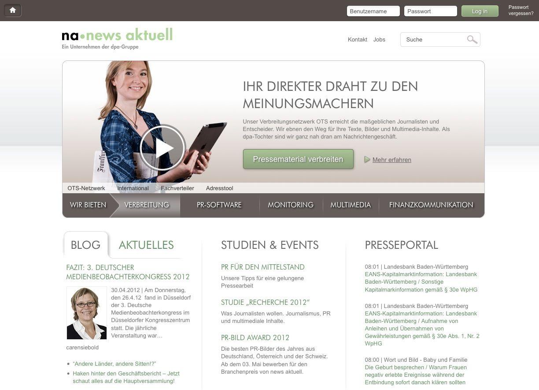 """""""news aktuell"""" hat einen neuen Webauftritt"""