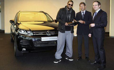 Samy Dexluxe, Olaf Ansorge (Autostadt) und Christian Reich (Volkswagen Sound Foundation)
