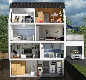 """Das """"virtuelle Haus"""" von AXA"""