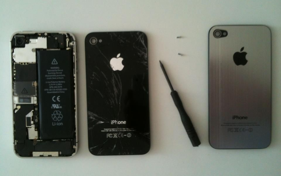 iPhone 4S Glasbruch: Backcover erneuern