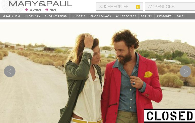 "Onlineshop ""Mary & Paul"", maryandpaul.com"