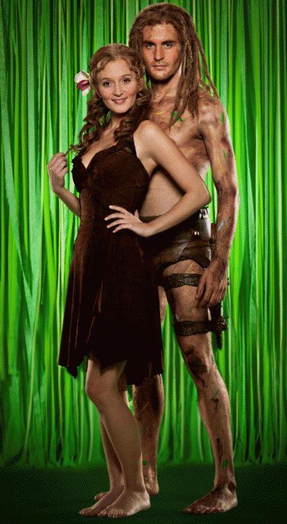 "Tarzan (Alexander Klaws) & Jane (Ina Trabesinger) - die Hauptdarsteller in Disneys Musical ""Tarzan"""