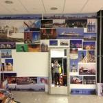 Die Räumlichkeiten nach der Einrichtung der Ausstellung