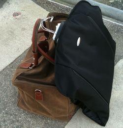 Das Gepäck und ich bleiben in Hamburg.