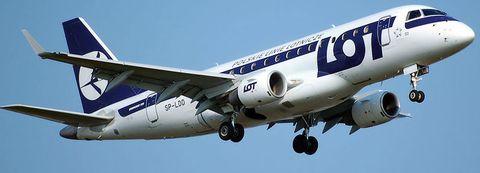 Flug LO400: Die Embraer 170 von LOT Polish Airlines hebt ohne mich ab...