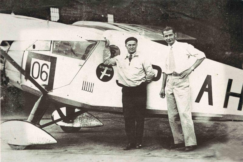 Pilot Franciszek Żwirko und Mechaniker Stanisław Wigura