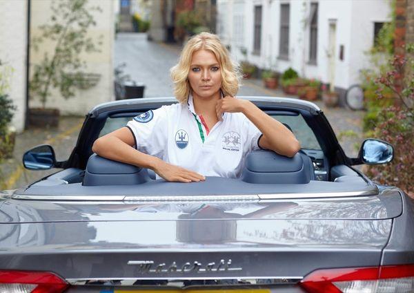 Jodie Kidd für Maserati und La Martina