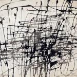 Arnold Fiedler (1900-1985): Grosser Stadtplan Paris, 1960, Chinatusche auf Papier 25 x 33 cm