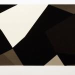 Joachim Albrecht: Komposition 61/1 'Kennedy' 1961, Serigrafie 54 x 76 cm