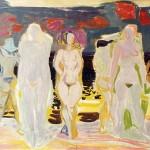 Eduard Hopf (1901-1973): Badende, 1950, Ölfarben auf Leinwand 85 x 110 cm