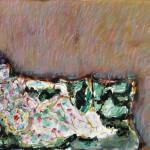 Hanno Edelmann (*1923): Grüner Diwan, 1991, Aquarell. Pastell, Mischtechnik auf Bütten 42 x 55 cm