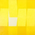 Joachim Albrecht: Gelbe Komposition 1966, Ölfarben auf Leinwand 100 x 100 cm