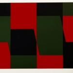 Joachim Albrecht: Komposition 65/6 'Rot-Grün-Schwarz' 1966, Serigrafie 53 x 75 cm