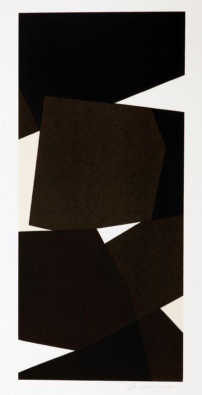 Joachim Albrecht: Neuer Totem 1960, Serigrafie 78 x 54 cm