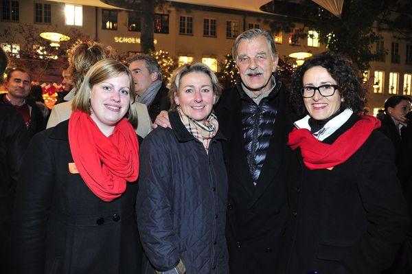 Anja Meyfarth vom Hamburg Marriott Hotel, Petra Kaiser und Bernd Stephan, Madeleine Marx vom Hamburg Marriott Hotel