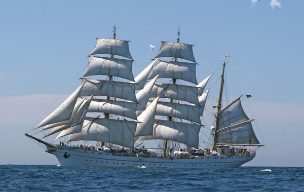 """Segelschulschiff """"Gorch Fock"""" ist auf großer Fahrt"""